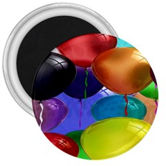 Colorful Balloons Render 3  Magnets