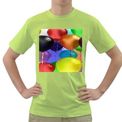 Colorful Balloons Render Green T Shirt
