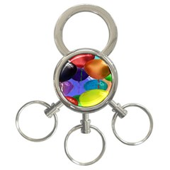 Colorful Balloons Render 3 Ring Key Chains