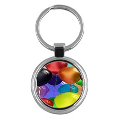 Colorful Balloons Render Key Chains (Round)