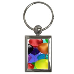 Colorful Balloons Render Key Chains (rectangle)