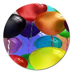 Colorful Balloons Render Magnet 5  (round)