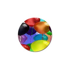 Colorful Balloons Render Golf Ball Marker (4 Pack)