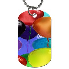 Colorful Balloons Render Dog Tag (Two Sides)