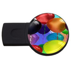 Colorful Balloons Render Usb Flash Drive Round (2 Gb)