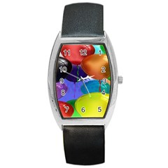 Colorful Balloons Render Barrel Style Metal Watch