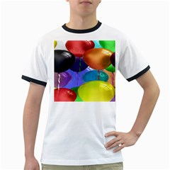 Colorful Balloons Render Ringer T-Shirts