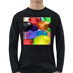 Colorful Balloons Render Long Sleeve Dark T Shirts