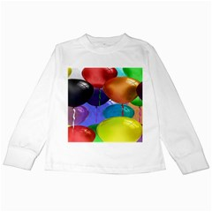 Colorful Balloons Render Kids Long Sleeve T-Shirts