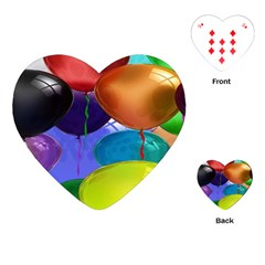 Colorful Balloons Render Playing Cards (Heart)