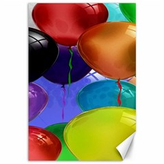 Colorful Balloons Render Canvas 12  x 18