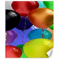 Colorful Balloons Render Canvas 20  x 24