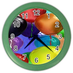 Colorful Balloons Render Color Wall Clocks