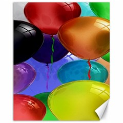 Colorful Balloons Render Canvas 11  x 14