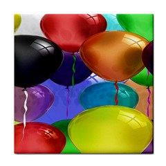 Colorful Balloons Render Face Towel