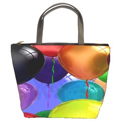 Colorful Balloons Render Bucket Bags