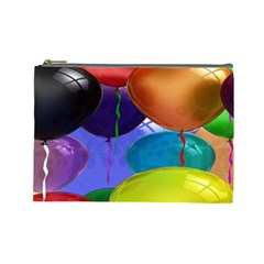 Colorful Balloons Render Cosmetic Bag (Large)