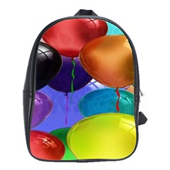 Colorful Balloons Render School Bags(large)