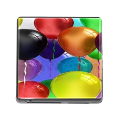 Colorful Balloons Render Memory Card Reader (square)