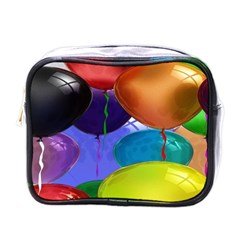 Colorful Balloons Render Mini Toiletries Bags