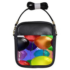 Colorful Balloons Render Girls Sling Bags