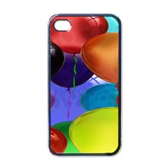 Colorful Balloons Render Apple Iphone 4 Case (black)