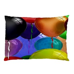 Colorful Balloons Render Pillow Case (Two Sides)