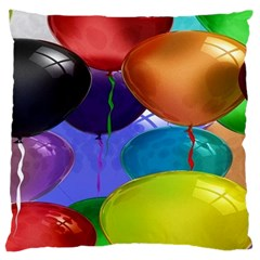 Colorful Balloons Render Large Cushion Case (One Side)