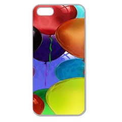Colorful Balloons Render Apple Seamless iPhone 5 Case (Clear)