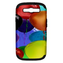 Colorful Balloons Render Samsung Galaxy S III Hardshell Case (PC+Silicone)