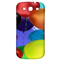 Colorful Balloons Render Samsung Galaxy S3 S Iii Classic Hardshell Back Case