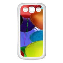 Colorful Balloons Render Samsung Galaxy S3 Back Case (White)