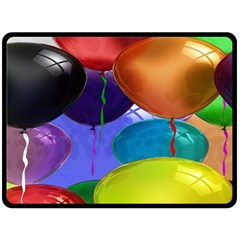 Colorful Balloons Render Double Sided Fleece Blanket (large)