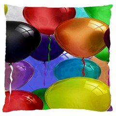 Colorful Balloons Render Large Flano Cushion Case (two Sides)