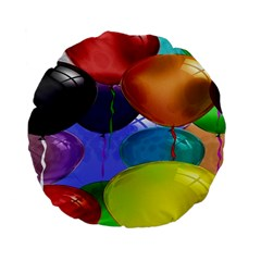 Colorful Balloons Render Standard 15  Premium Flano Round Cushions