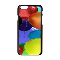 Colorful Balloons Render Apple iPhone 6/6S Black Enamel Case
