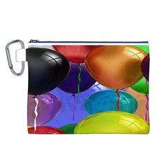 Colorful Balloons Render Canvas Cosmetic Bag (l)