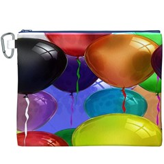 Colorful Balloons Render Canvas Cosmetic Bag (XXXL)