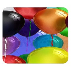 Colorful Balloons Render Double Sided Flano Blanket (small)
