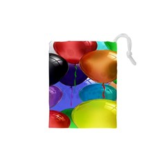 Colorful Balloons Render Drawstring Pouches (xs)
