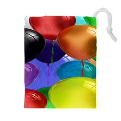 Colorful Balloons Render Drawstring Pouches (Extra Large)