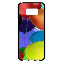 Colorful Balloons Render Samsung Galaxy S8 Plus Black Seamless Case