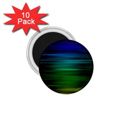 Blue And Green Lines 1 75  Magnets (10 Pack)