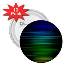 Blue And Green Lines 2.25  Buttons (10 pack)