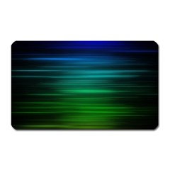 Blue And Green Lines Magnet (rectangular)