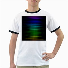Blue And Green Lines Ringer T Shirts