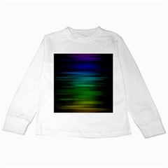 Blue And Green Lines Kids Long Sleeve T Shirts