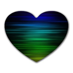 Blue And Green Lines Heart Mousepads