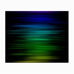 Blue And Green Lines Small Glasses Cloth (2 Side)
