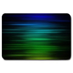 Blue And Green Lines Large Doormat